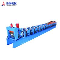 China Colored coated metal steel profile galvanized sheet roof tile ridge cap roll forming machine on sale