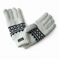 Wholesale Jacquard Gloves with Thinsulate Lining, Made of Acrylic from china suppliers