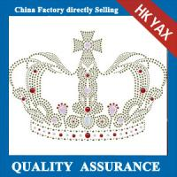 Wholesale D0929 Rhinestone Iron on Transfer Hotfix Motif design crystal crown Fashion Design from china suppliers