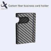 China Safe Fashion 100% Pure Carbon Fiber Business Card Cases Card Holders for sale