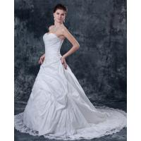 Wholesale Customized Thick White Strapless Wedding Gowns for Spring , Summer , Fall , winter from china suppliers