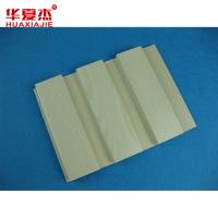 China Indoor Beige WPC Wall Cladding Interior Decorative Wall Panel on sale