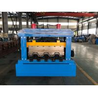 Wholesale 0.8 - 1.2mm Thickness floor decking forming machine Chain Drive from china suppliers