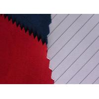 Soft Polyester Cotton Twill Fabric Anti Static Filament Yarn 2% Carbon Fiber for sale