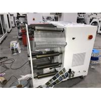 China Economic Jumbo Roll Blank Label Slitting And Rotary Die Cutting Rewinding Machine for sale