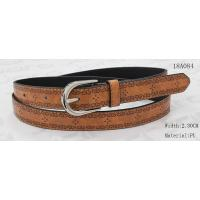 Wholesale Nickel Satin Buckle Women'S Belts For Jeans , Embossed Patterns Womens Stretch Belts from china suppliers