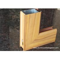 Wholesale Aluminium Side - hinged Door Extrusion Profile Wood Grain Effect from china suppliers