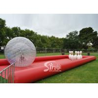 Wholesale New design giant inflatable human bowling ball game with big zorb ball and race track from china suppliers