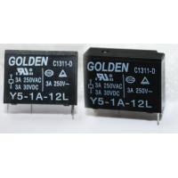 Best GOLDEN 12A PCB Mounted Miniature Relay Y5 JZC-43F Industrial Relays wholesale