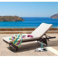 Wholesale PE Rattan wicker furniture beach chair Chaise lounge chair Outdoor garden  sunbed from china suppliers