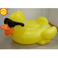 Best GAME Derby Duck Inflatable Swimming Pool Float with Cup Holders and Handles For Kids & Adults wholesale
