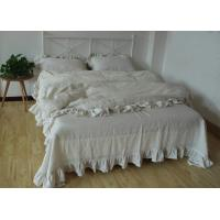 China 100% Linen Plain Duvet Covers , Comfortable 4Pcs Dyed Soft Duvet Covers on sale