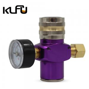 Wholesale Beer Aluminum Mini CO2 Regulator With 150psi Gauge from china suppliers