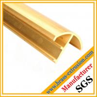 Wholesale window door frame brass copper extrusion profiles from china suppliers