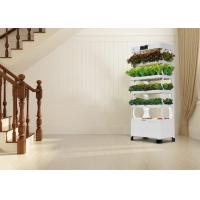 Wholesale Plant Vegetable Vertical Hydroponics Tower Convenient With LED Grow Light from china suppliers