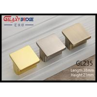 Bathroom Square Cupboard Knobs Golden Zinc Material For Furniture Ornaments