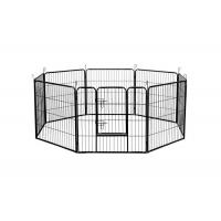 Wholesale Black Silver Strong Metal Puppy Dog Play Pen Square Tube 1.5m Width from china suppliers
