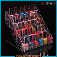 Best Clear Acrylic Nail Polish Display Stand, 5 tier nail polish display rack wholesale