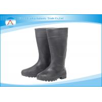 Wholesale Acid Resistance Men 36~40CM Height Black Pvc Rain Boots Safety in Food Industry from china suppliers