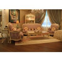 Wholesale Parquetry and Golden Decortation in Wooden Carving Frame with Fabric Upholstery Sofa from china suppliers