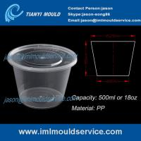 Wholesale Manufacturer of 500ml disposable thin wall plastic soup bowls mold from china suppliers