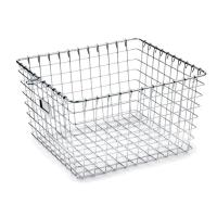 High Strength Metal Sterilization Trays Wire Basket Stackable For Washing Processes for sale