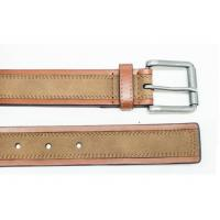 China Super Split Mens Casual Leather Belt with Leather Suede and Roller Buckle on sale