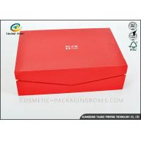 Crimson Custom High End Cardboard Gift Boxes For Clothes / Cosmetic