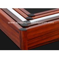 Wholesale Non - Formaldehyde Aluminium Skirting Board Corner CoversProfile Wood Grain Effect from china suppliers