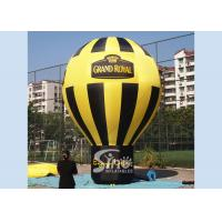 Wholesale 5 meters high black N yellow Grand Royal advertising inflatable roof top balloon with strong ropes from china suppliers