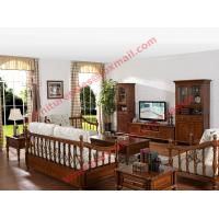 Wholesale Solid Wooden Carving Frame with Fabric Upholstery Sofa Set in Living Room Set from china suppliers