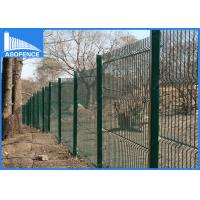 3D Anti Climb Garden Steel Panel Fence For Airports / Factory , 3.15mm Horizontal Wire