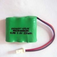 China Plug wire 2 / 3AA  nimh Rechargeable batteries pack for LED lights 230mAh 3.6v OEM / ODM on sale