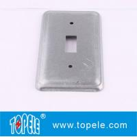 China TOPELE 20C5 Galvanized Steel Rectangular Flat Blank Device Switch Covers for Toggle Switch on sale