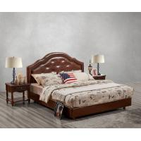 Wholesale Leather / Fabric Upholstered Headboard Bed for Hotel Bedroom interior Furniture with Wooden nighstand in Cheap price from china suppliers