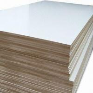 China Melamined MDF Used for Panel Furniture, Wall Panel, E1 E2 Glue on sale