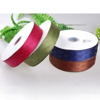 China Thick Plate Plastisol Printed Satin Ribbon Durable For Fragrance Packaging for sale