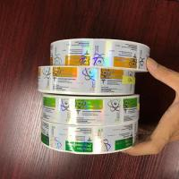 China Pharmaceutical 10ml Vial Labels Hologram Laser Roll Labels Stickers Glossy Finish for sale