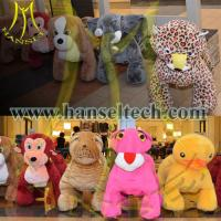 China Hansel Hot in Shopping Mall Kids Coin Operated Game Machine Motorized Animal Ride On Furry Animal on sale