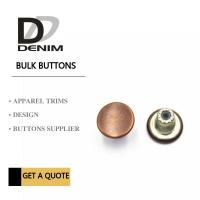 China Customize Decorative Brass Jeans Fasteners Metal Clothing Buttons Brand Style Design on sale