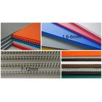 Wholesale 2440x1220mm 3mm 4mm polypropylene corrugated plastic sheet , Flute PP Sheet from china suppliers