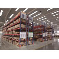 Best Eco - Friendly Industrial Storage Shelves Racks , Timber Storage Racking Systems 2000 - 12000 Mm Height wholesale