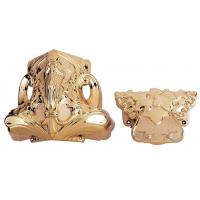 Copper Color Coffin Decoration , Coffins And Caskets Accessories Supplied In Set