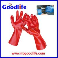 China pvc coated gloves, pvc dotted gloves, durable pvc glove on sale
