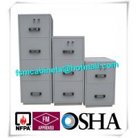 Wholesale Steel 4 Drawers Fire Resistant File Cabinets , Fireproof File Cabinets For Documents from china suppliers