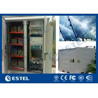 Generator Compartment Base Station Cabinet With Solar Controller / Solar Cell Panel