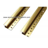 Wholesale Versatile Shiny Gold Aluminum Carpet Trim For Ceramic Tile To Carpet Transition from china suppliers