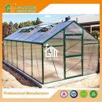 Wholesale Aluminum Greenhouse-Titan series-606X306X243CM-Green/Black Color-10mm thick PC from china suppliers