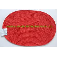 China Paper table mat  woven paper placemats oval mat on sale