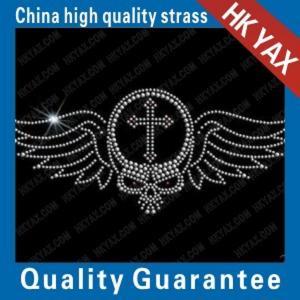 Wholesale china hotfix motifs factory;high quality skull-5 motifs hotfix;fashion design hot fix motifs from china suppliers